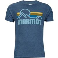 New Navy Marmot Coastal Tee SS Mens