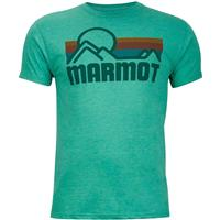 New Green Heather Marmot Coastal Tee SS Mens