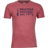 Burgundy Heather Marmot 74 Tee SS Mens