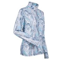 Ice Blue Marble Nils Robin Print Top Womens