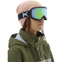 Anon Insight Goggle - Women's - Black Frame with Sonar Green & Amber Lenses (203511-040)