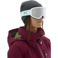 White Frame with Sonar Silver & Amber Lenses (203511 129) Anon Insight Goggle Womens