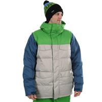 Iron Gray / Team Blue Burton Deerfield Puffy Jacket Mens