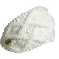 Ivory Turtle Fur Feel My Flow Headband Womens
