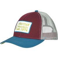 Burgundy Marmot Retro Trucker Hat Mens