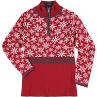 Red Krimson Klover Eva Maria 1/4 Zip Pullover Sweater Womens