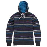 Layered Form Charcoal Grey Foursquare Multi Stripe Full Zip Hoodie Mens