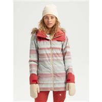 Burton Lelah Jacket - Women's - Aqua Gray Revel Stripe / Tandori