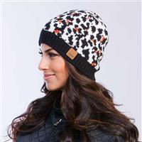 Leopard Celtek Pin Up Beanie Women Side View