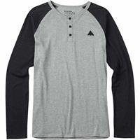 Gray Heather Burton Lifty Henley Long Sleeve Shirt Mens