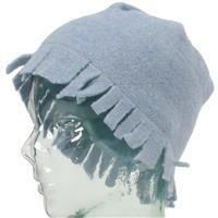 Light Blue Turtle Fur Flapper Hat