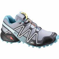 Light Onix / Dark Cloud / Dark Azure Blue Salomon Speedcross 3 Trail Running Shoes Womens