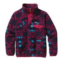 Lightning / Portofino Pink Patagonia Lightweight Synchilla Snap T Pullover Girls
