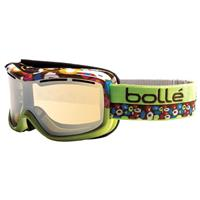 Lime Frame with Amber Gun Lens Bolle Monarch Goggle Womens
