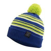 Lime Green / Olympian Blue Stripe DC Jenner Beanie Mens