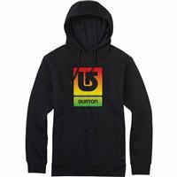 True Black (17) Burton Logo Vertical Fill Pullover Hoodie Mens
