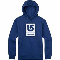 True Blue Burton Logo Vertical Fill Pullover Hoodie Mens