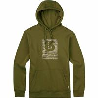 Olive Branch Burton Logo Vertical Fill Pullover Hoodie Mens