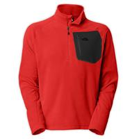 Majestic Red The North Face TKA 100 Trinity Alps Fleece Mens