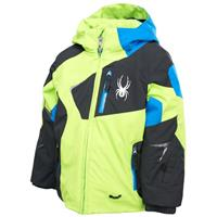 Mantis Green/Black/Stratos Blue Spyder Mini Leader Jacket Boys