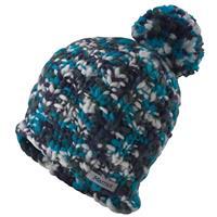 Arctic Navy Marmot Frosty Pom Hat Womens