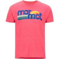 Red Heather Marmot Oceanside Tee SS Shirt Mens