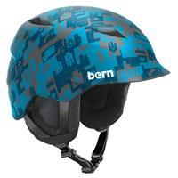 Matte Blue Camo Bern Camino Helmet Boys
