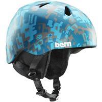 Matte Blue Camo Bern Nino Helmet Boys