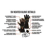 ActionHeat 5V Heated Snow Gloves - Men's - Black