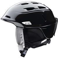 Metallic Black Smith Compass Helmet Womens