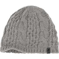 Metallic Silver The North Face Cable Minna Beanie Womens