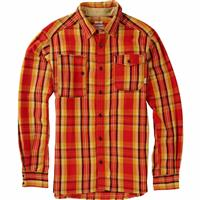 Gold Flame north Burton Mill Long Sleeve Woven Shirt Mens