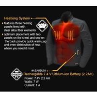 Black Mobile Warming Taylor Heated Softshell Vest Mens