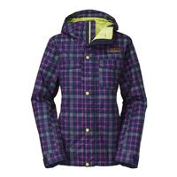 Montague Blue Downtown Plaid The North Face Ricas Insulated Jacket Womens