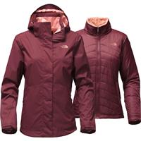Deep Garnet Red The North Face Mossbud Swirl Tri Jacket Womens