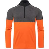 Kjus Race Midlayer Half Zip - Men's - Kjus Orange / Steel Grey Melange (80054)