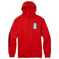 Fiery Red Burton Mystery Air Pullover Hoodie Mens