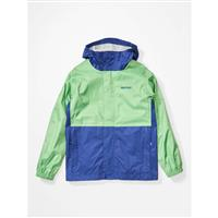 Marmot PreCip Eco Jacket - Youth - Emerald / Royal Night