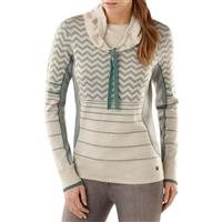 Natural Heather Smartwool Optic Frills Double Knit Pullover Womens