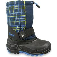 Navy Plaid Kamik Rocket 2 Boots Preschool