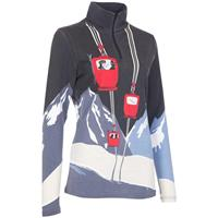 Red Lift Print Neve Ski Tignes Shirt Womens