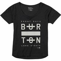 True Black Heather (17) Burton Never Sleep Scoop Tee Womens