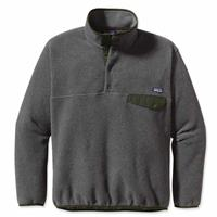 Patagonia Synchilla Snap-T Pullover - Men's - Nickel with Urbanist Green