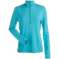 Turquoise Nils Brooklyn 1/2 Zip T Neck Womens