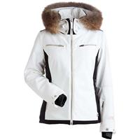 Nils Kirsti Real Fur Jacket - Women's - White / Black
