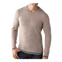 Oatmeal Heather Smartwool Coal Creek V Neck Sweater Mens
