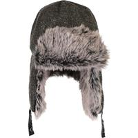 Obermeyer Trapper Knit Hat with Faux Fur Mens