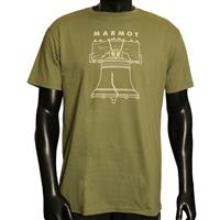 Olive Marmot Liberty Bell Tee Mens