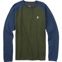 Olive Night Heather Burton Stowe Raglan Sweater Mens