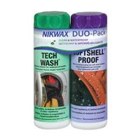 Nikwax Tech Wash/Softshell Duo Pack